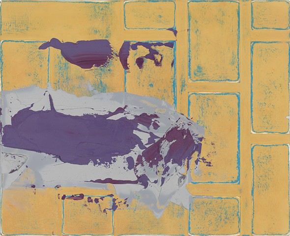 "Chris D. Smith, Chicago, IL Artist, Abstract Painter, Untitled IM25, 2012, acrylic, collage and oil on panel, 9"" x 11"""