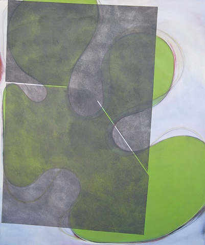 "Chris D Smith, Chicago, IL Artist, Abstract Painter, Untitled IM11, 2009, acrylic, charcoal and oil on canvas, 60"" x 50"""
