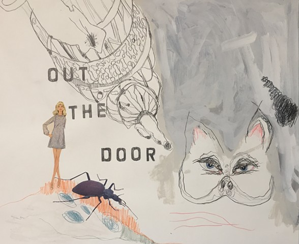 Out the Door (drawing 1)