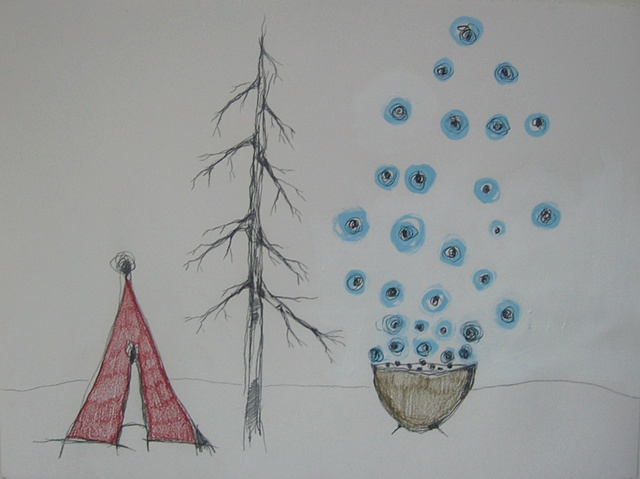 UFO Series Drawing 15