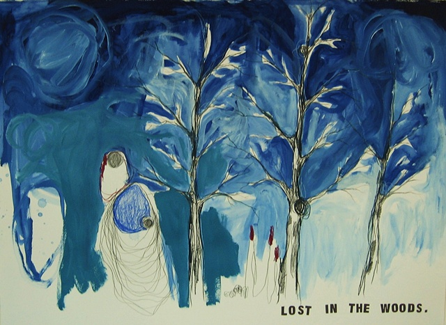 Drawing 5 Lost in the Woods series
