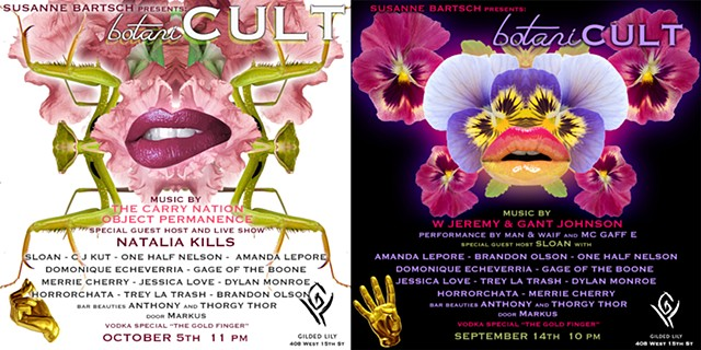 Flyers for Susanne Bartsch's botaniCULT