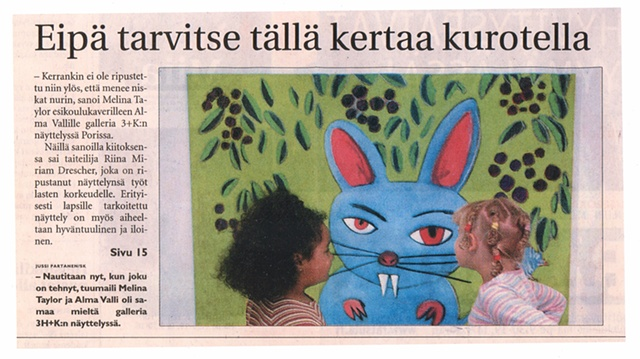 Exhibition review in Finnish Newspaper, City of Pori