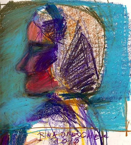 artist, Rina Miriam Drescher, portrait, affordable art, contemporary art, art, rochester, ny, art, self, self portrait, ooak, affordable, drawing, artwork, colorful, unique, original art, original, one of a kind, fine art, small, paper, crayon, illustrati