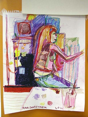 kate, painting, drawing, art, unique, crayon, paper, ooak, one of a kind, contemporary, artist, drawn, oil pastel
