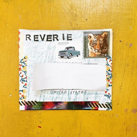 accordion zine, snail mail, snail mail art zine, art zine, studio harpy, reverie vol 1 zine