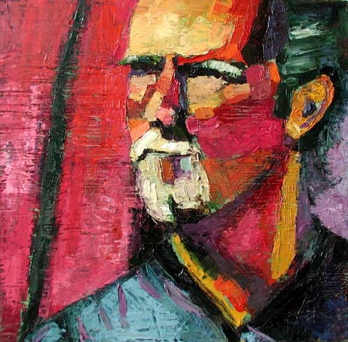 John, man, male, art, artist, painting, paintings, oil on wood, oil, oil painting, original, Rochester, NY, Rina Miriam Drescher, original art, original painting, contemporary art, contemporary artist