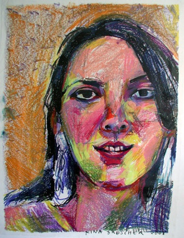 young woman, portrait, katie, art, contemporary, face, drawing, illustration, original, fine art