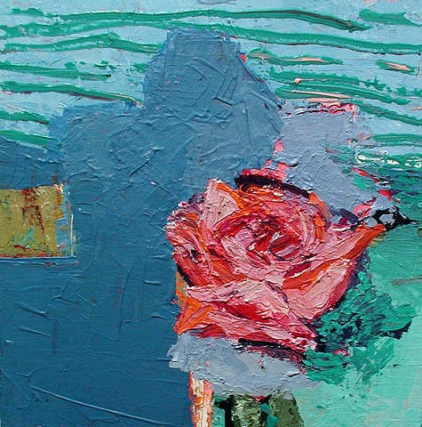 Gertrude Stein, painting, rose, Rina Miriam Drescher, contemporary art, artist statement, something else, art