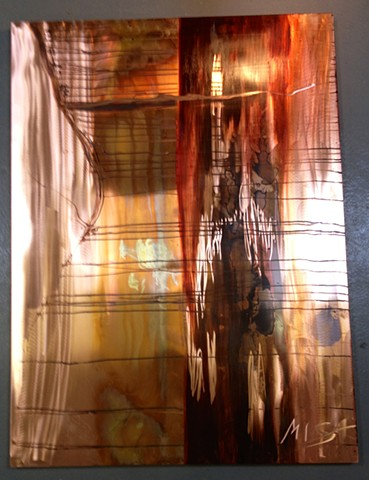 fine art metal art copper