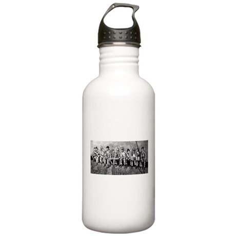 1 liter Stainless Water Bottle B&W