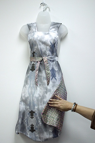 (LMK) Childhood Apron, a digital print on wearable textile