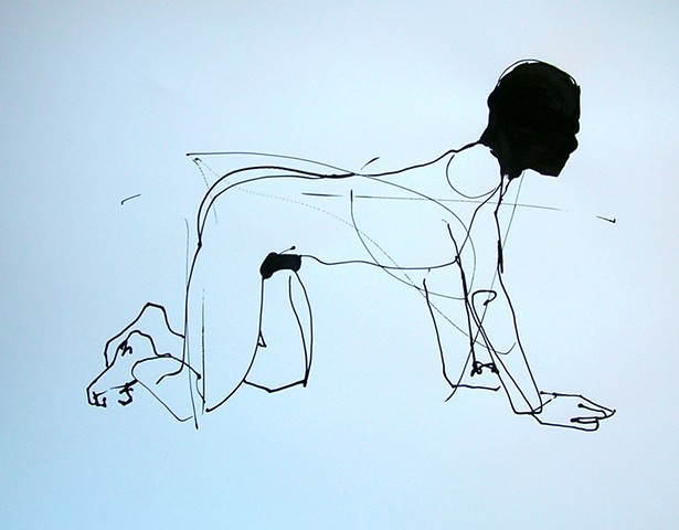 untitled figure on all fours