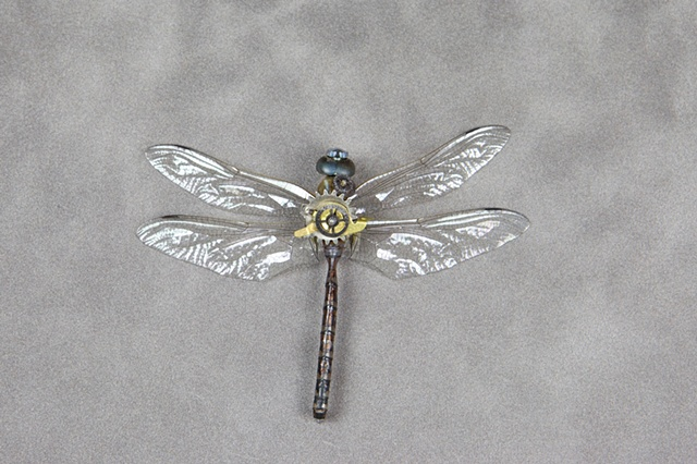 Dragonfly all Geared out and ready to fly Mechanical, Insect, Bugs, Gears, Steampunk, Steam Punk by Lindsey Bessanson