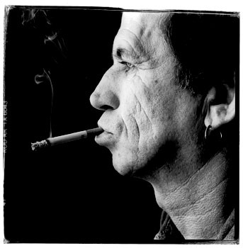 Inspiration image. Keith Richards of The Rolling Stones