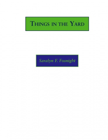 Things in the Yard, cover art