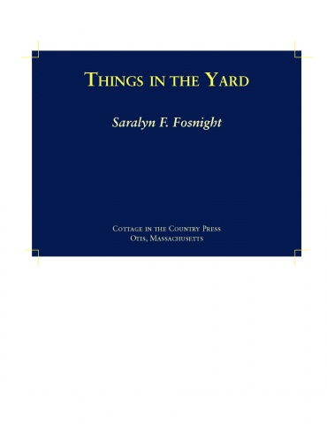 Things in the Yard, page 1