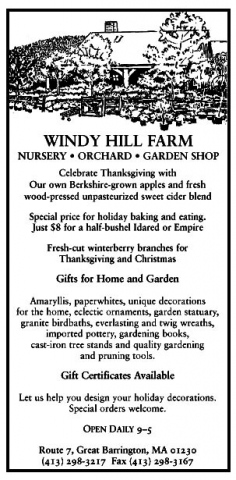Windy Hill Farm Ad, November 2004