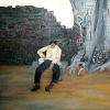 Man on bench (sold)