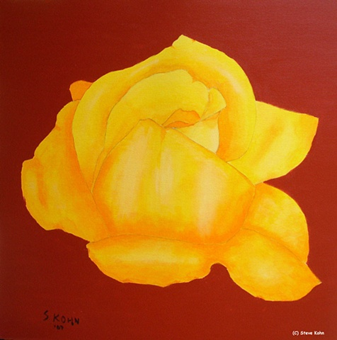 Yellow Rose on Red Oxide