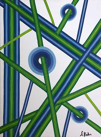 Untitled (Blue, Green, White)