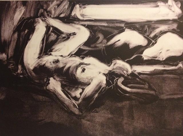 Reclining Nude by Window