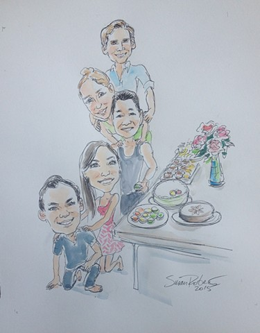 an example of caricature for a gift
