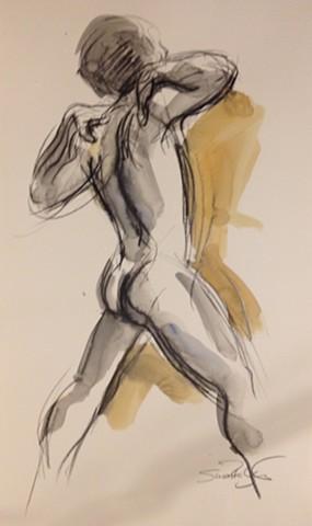 Male model from rear