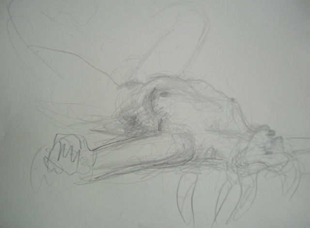 Nude Reclining, Arms Outstretched