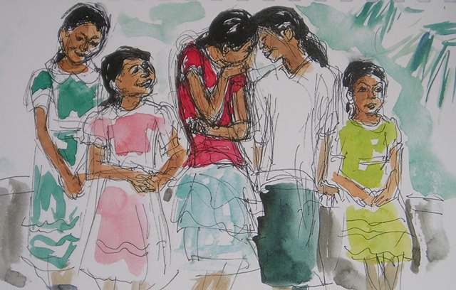 Girls in Chiapas