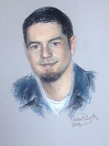 Pastel Portrait of a Young Man