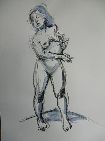 Standing Model looking Left