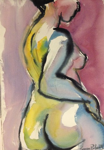 Nude from Side with Hand on Hip