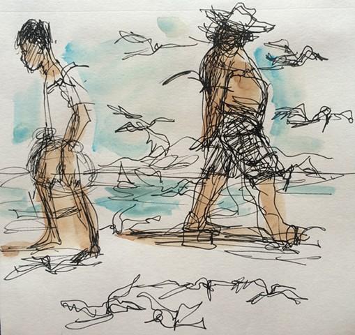 Beach Sketch #3