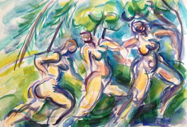 Bathers - Homage to Cezanne