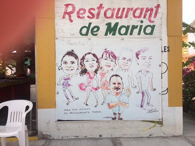 Luis and his restaurant crew