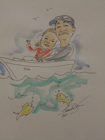 Father and Daughter in Boat