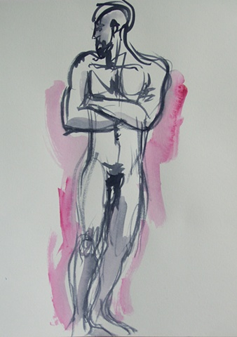 Standing Male Nude, Front