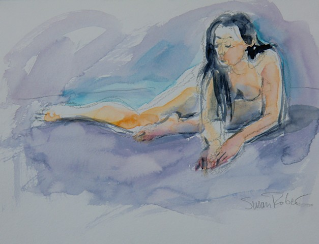 Nude, Purple Wash
