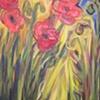 Poppies in My Garden 1 (diptych)