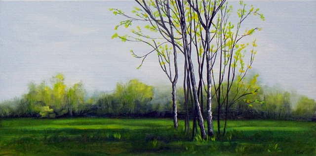 oil painting, canvas, landscape painting