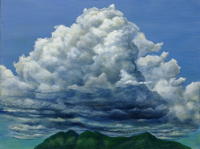 Marion Webber, painting, landscape, clouds, oil painting, cumulonimbus, sky paintings