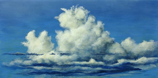 Marion Webber, oil painting, landscape, acrylic, mix media, clouds, sky