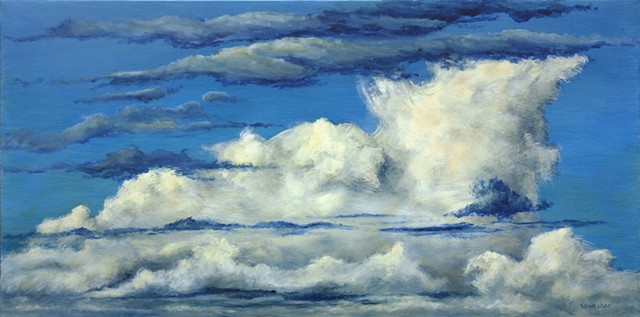 Marion Webber, painting, landscape, oil painting, sky painting, clouds