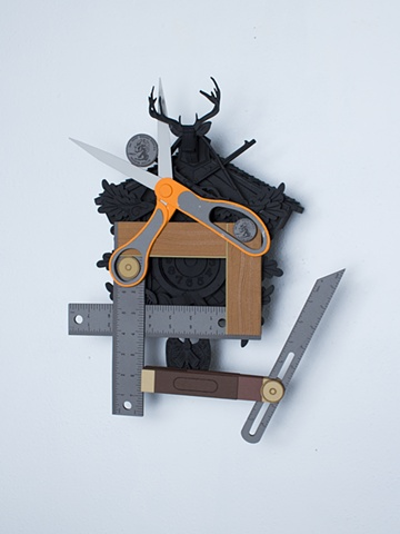 Golem #14; cuckoo clock with tools