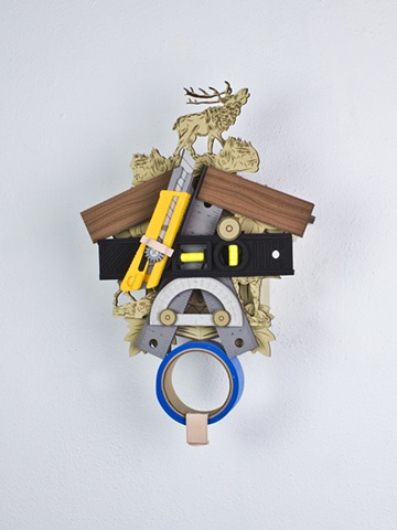 Golem #37; cuckoo clock with tools