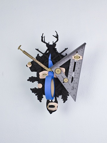 Golem #17; cuckoo clock with tools