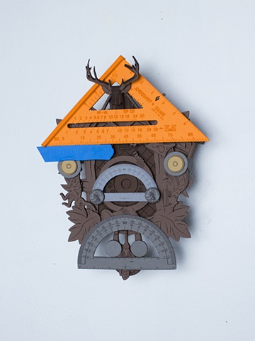 Golem #11; cuckoo clock with tools