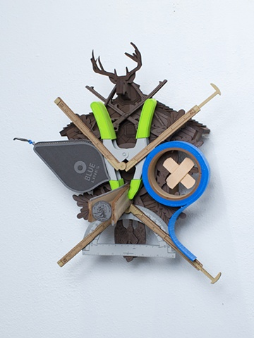 Golem #1; cuckoo clock with tools