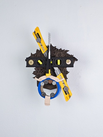 Golem #52; cuckoo clock with tools